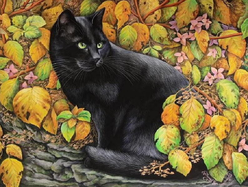 Irina Garmashova - Autumn Cat
