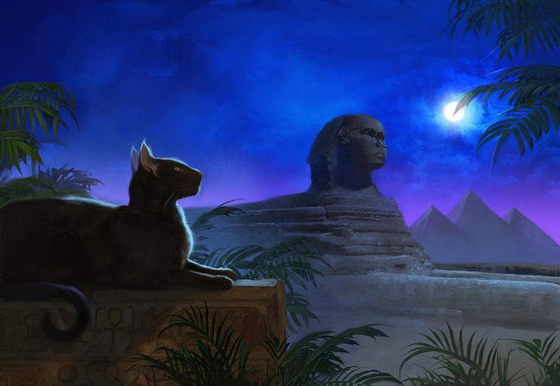статуэтки кошек египет фото