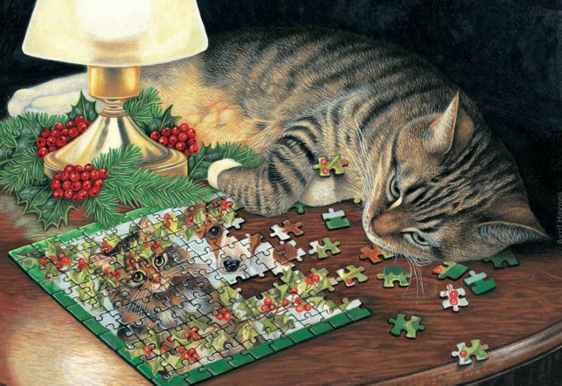 http://catsfineart.com/assets/images/cats/ChristmasCats/db_Avril_Haynes_Purring_Puzzler1.jpg