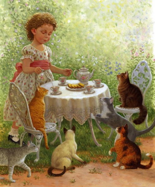 Cat Tea Party - Ruth Sanderson