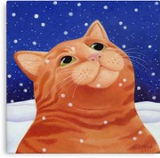 Vicky Mount - Ginger Cat in Snow