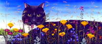 Carol Wilson - Cat in flower field