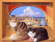 Colin Birchall - St.Ives cats