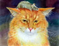 Orange Cat and Grey Mouse - Igor Ignatenko