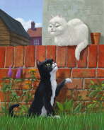 Martin Davey - Romantic Cute Cats in Garden