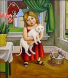Rick Beerhorst - Dove With Cat