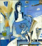 Tatyana Gorshunova - Woman with a Cat