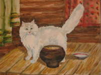 Cat with a pot - Natalya Vasileva